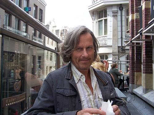 Op het terras in Amsterdam.